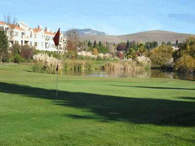 A view of a hole at Canyon Lakes Golf Course