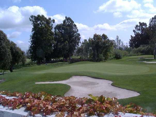 A view of a green at Las Positas Golf Course