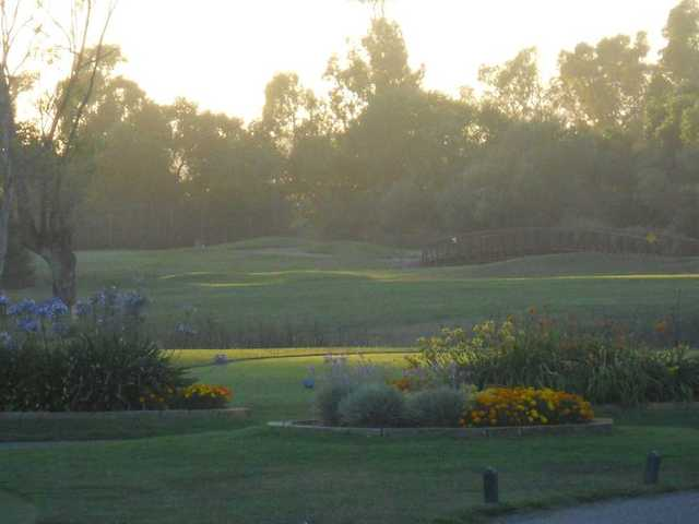 A view of a tee at Las Positas Golf Course
