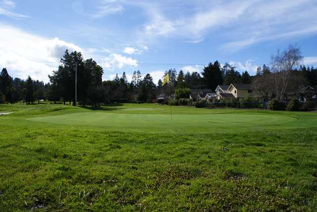 A view of the 9th green at Valley Gardens Golf Course