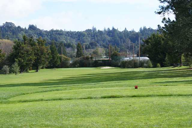 A view from tee #1 at Valley Gardens Golf Course