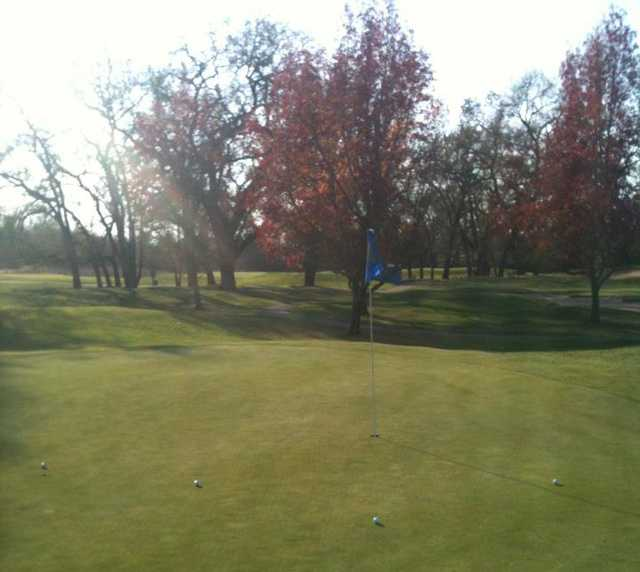 A view of hole #16 at Windsor Golf Club