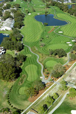 Aerial view of Meadows nine