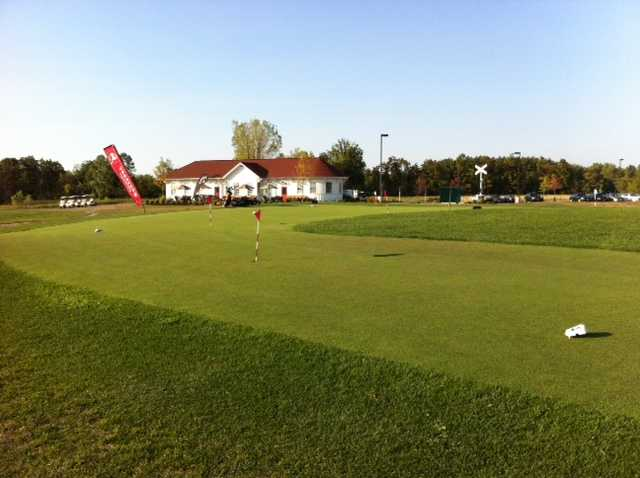 A view of the practice area at Golf Depot