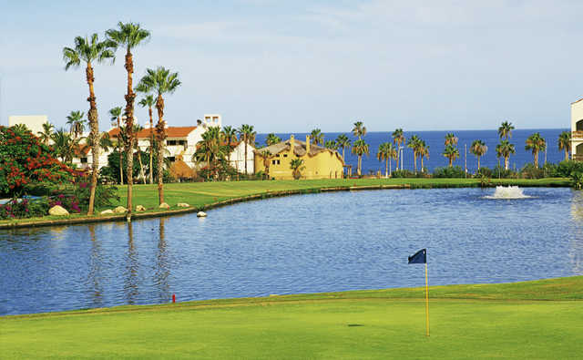 View of a green and lake at Vidanta Golf Los Cabos