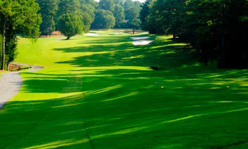 A view of a tee at Indian Hills Country Club