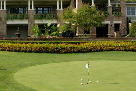 A view of the practice area at Indian Hills Country Club