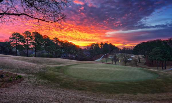 A view of the 9th green at Atlanta Country Club