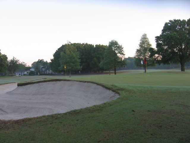 A view of the practice area at Cypress Run Golf Club