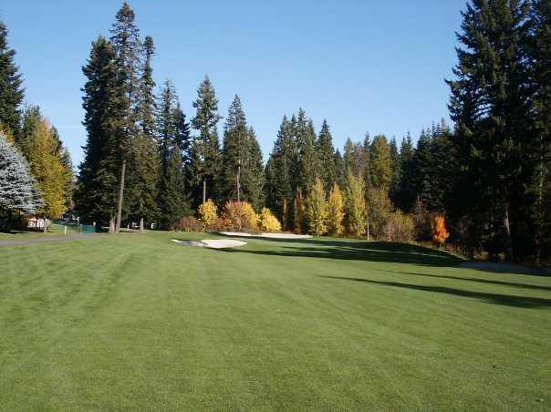 A fall view from a fairway at Avondale Golf & Tennis Club