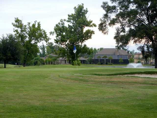 A view of the 6th green at Belle Terre Country Club