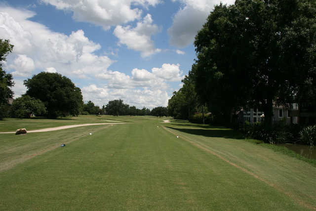A view from a tee at Cypress Lakes Country Club