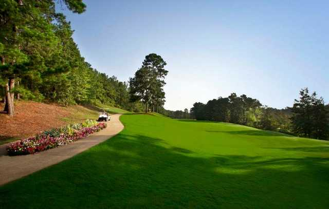 A view of a fairway at Cypress Bend Golf Resort