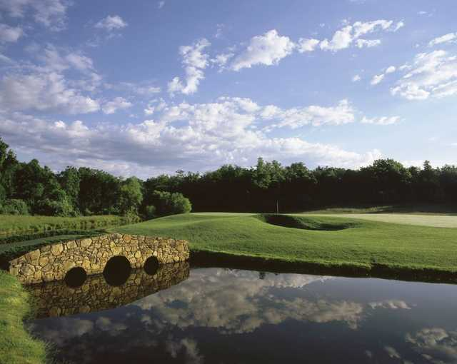 A view over a bridge at Birdwood Golf Course