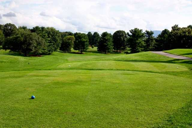 A view from a tee at Shenandoah Valley Golf Club
