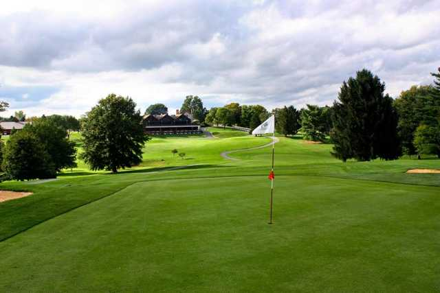 A view of a green at Shenandoah Valley Golf Club