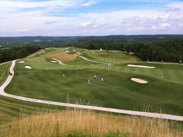 A view from Hanging Rock Golf Club