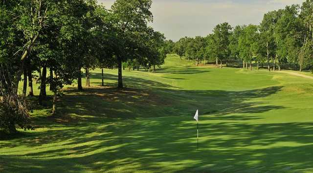 A view of a green from Page Belcher Golf Course