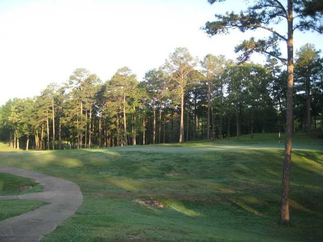A view of the 18th green at Cedar Creek Golf Course