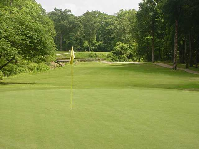 A view of a hole at Cedar Creek Golf Course