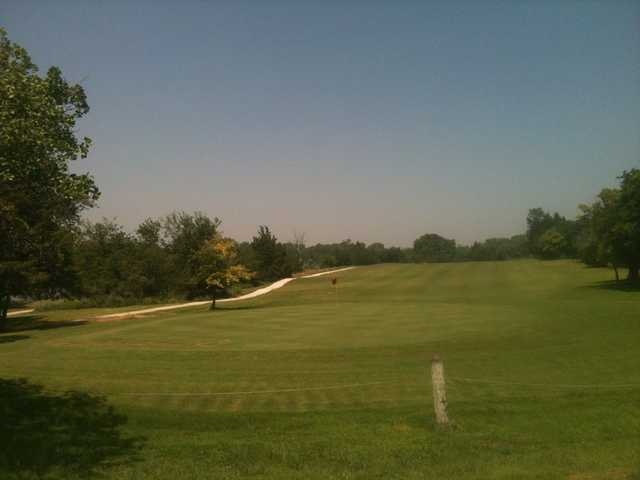 A view of a green at Ft. Cobb Golf Course