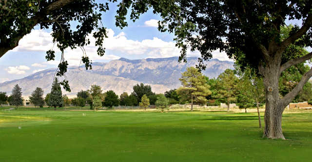 A view of a fairway at Paradise Hills Golf Course.