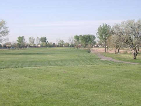 A view from a tee at Ladera Golf Course (City of Albuquerque)