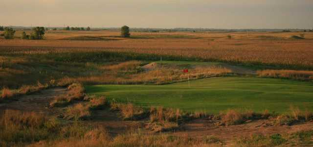 View of the 13th hole at Awarii Dunes Golf Club