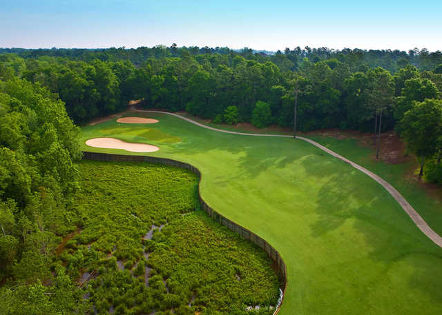 A view of a fairway at Rock Creek Golf Club