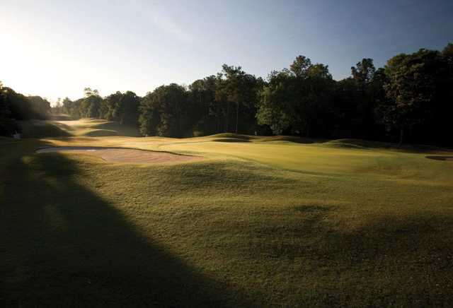 A view of the 2nd green at Magnolia from TimberCreek Golf Club