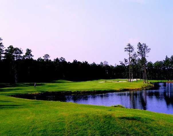 A view of fairway #14 at Indigo Creek Golf Club