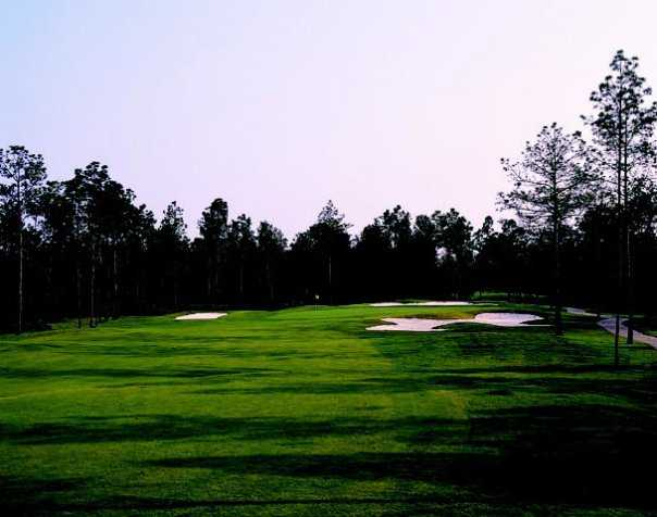 A view from a fairway at Indigo Creek Golf Club