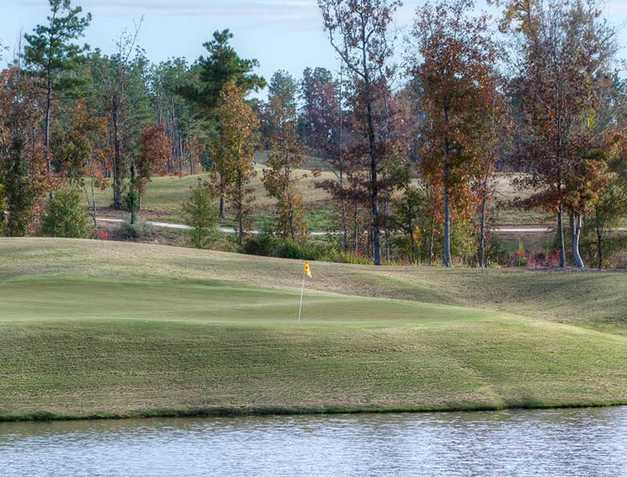 A view of green #2 at Mindbreaker from Silver Lakes