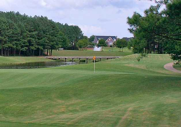 A view of the 4th hole at Marshwood from Highland Oaks Golf Course