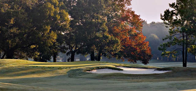 A view of the 1st green at Highlands from Highland Oaks Golf Course.