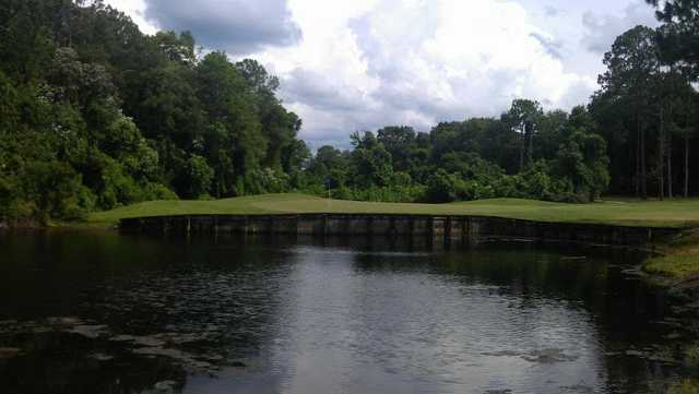 A view from a fairway at Magnolia Point Golf & Country Club