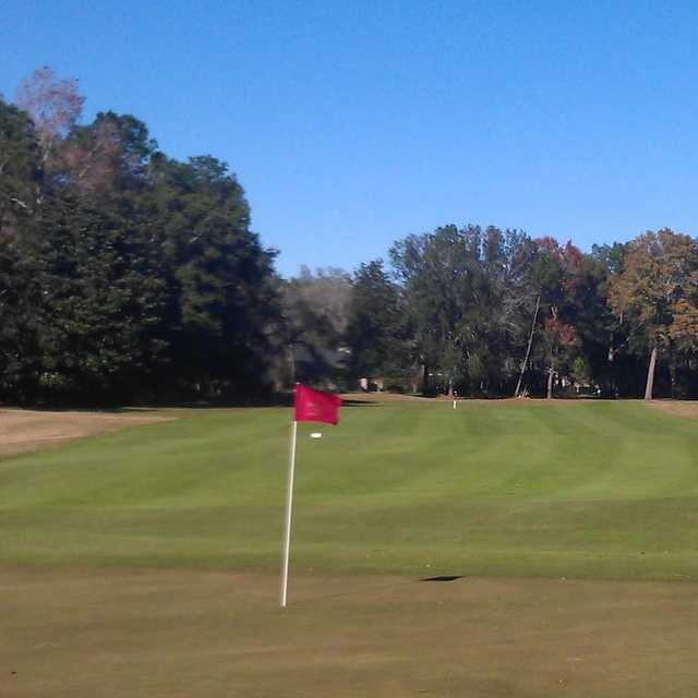 A view from a green at Red Course from Magnolia Point Golf & Country Club