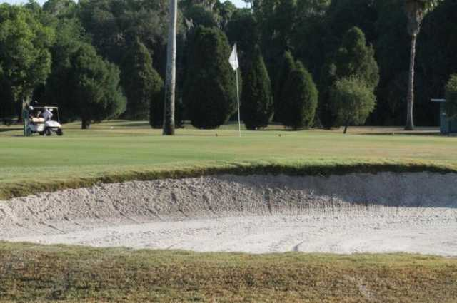 A view of the 1st green at Bartow Golf Course