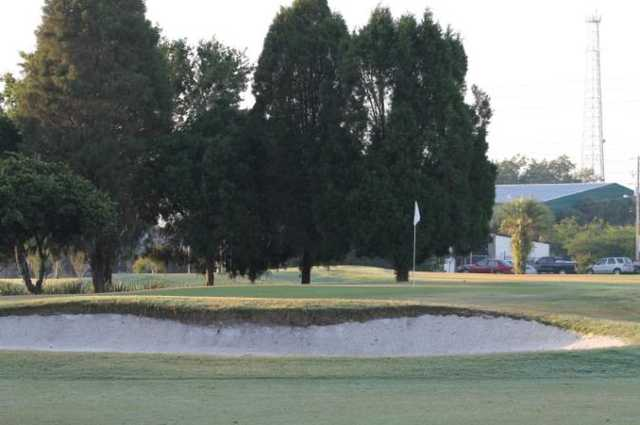 A view of the 13th hole at Bartow Golf Course