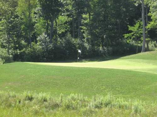 A view of green #6 at Deertrak Golf Club