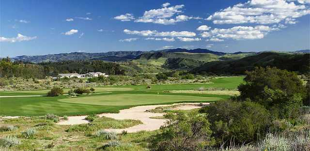 Rustic Canyon: The last par-3, the 17th (Rob Brown/Rustic Canyon G.C.)