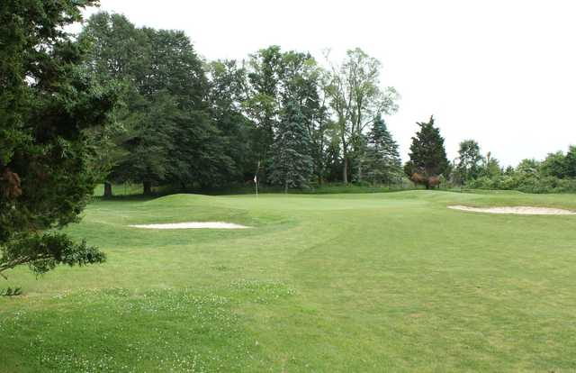 A view from a fairway at Poxabogue Golf Center