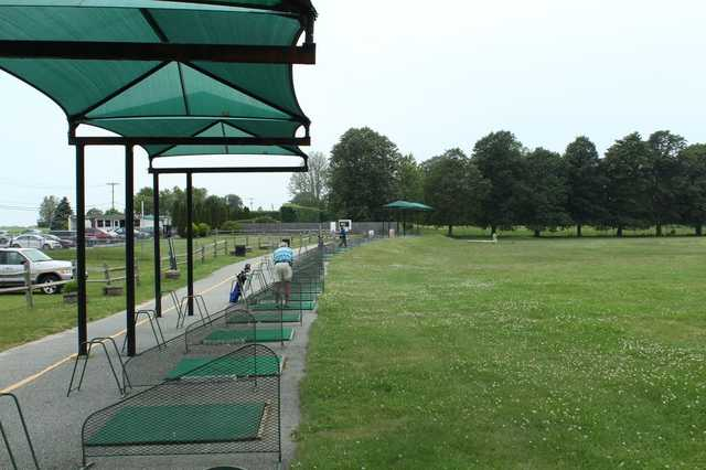 A view of the drivin range tees at Poxabogue Golf Center
