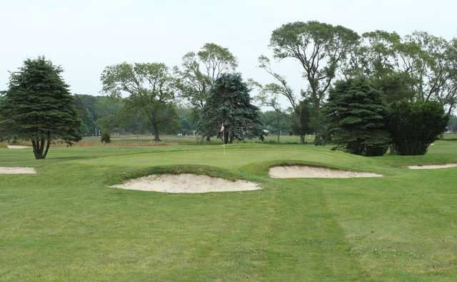 A view of a hole at Poxabogue Golf Center