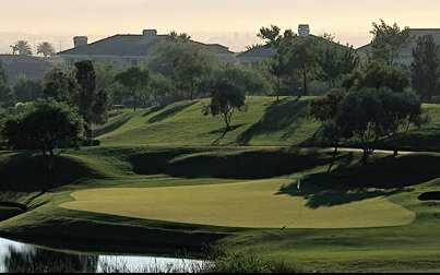 A view of a hole with water coming into play from TPC Summerlin