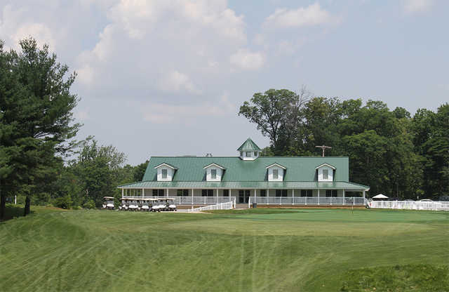A view of the clubhouse at Country Club of Old Vincennes
