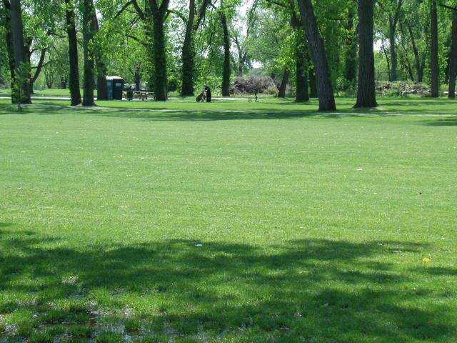 A view of a fairway at Wicker Memorial Park Golf Course