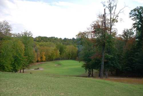 A fall view of a fairway from Pebble Brook Golf Course