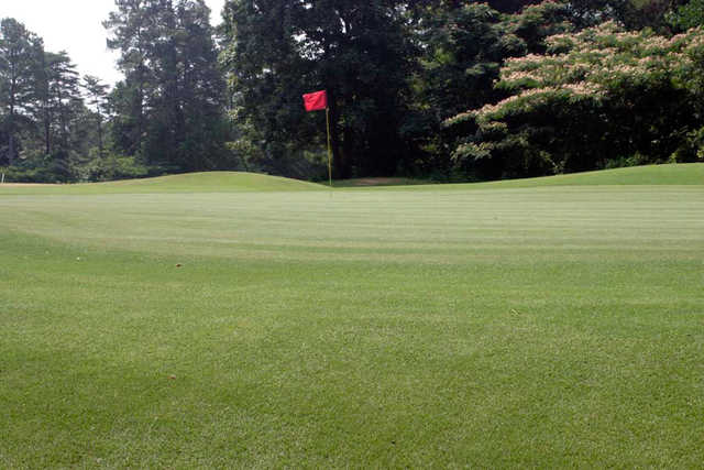 A view of a green at Red from Mountain View Golf Course