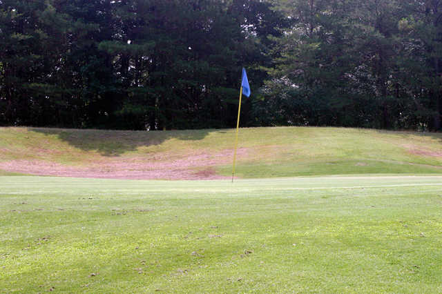 A view of a hole at Blue from Mountain View Golf Course